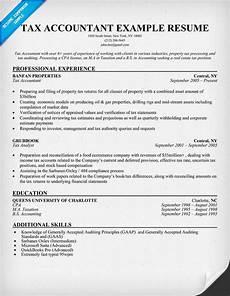 tax accountant resume sle