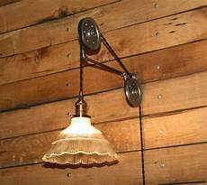 large pulley wall for your pendant light
