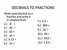 write each decimal as a fraction in simplest form decide the video clip in order to introduce