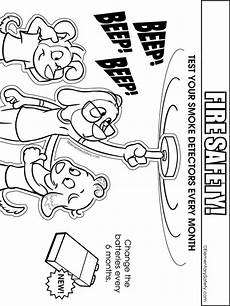 safety coloring pages free printable safety