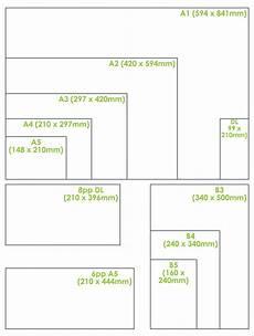 standard paper size chart metal graphics