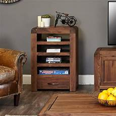 hifi racks baumhaus shiro walnut range hifi rack reviews wayfair