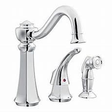moen kitchen faucet single handle moen 7065 vestige single handle kitchen faucet with side spray chrome touch on kitchen sink
