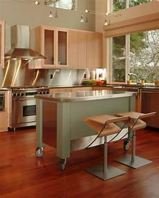 Kitchen Islands With Seating For 4 For Sale by Custom Designed Rolling Island