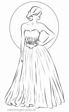 Malvorlagen Seite De Coloring Page Fashion Evening Dress
