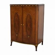 71 antique wardrobe with gold trim storage