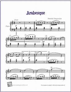 arabesque burgm 252 ller free easy piano sheet music