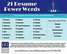 by janet search resume power words