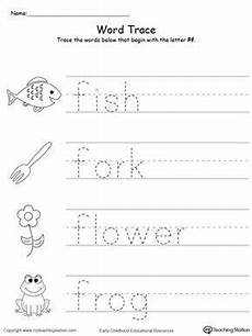 letter f tracing worksheets for preschool 23592 trace words that begin with letter sound f ingles basico para ni 241 os hojas de trabajo