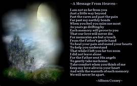 "Hugs From Heaven Poem  14 Responses To ""I Lost A Dear"
