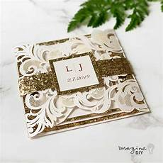 how to make your own wedding invitations with glitter imagine diy