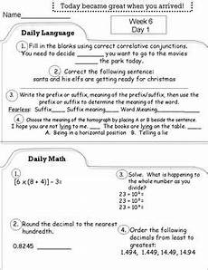 5th grade morning work worksheets fifth grade daily morning work spiral review common core