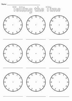telling time worksheets blank clock faces 2933 blank clocks worksheet by simon h teaching resources tes