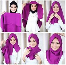 Tutorial Segi Empat Satin Simple Dan Modis Jilbab