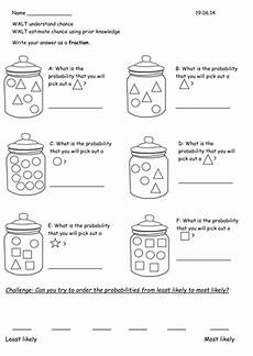year 2 probability chance worksheets by rebeccaremnant