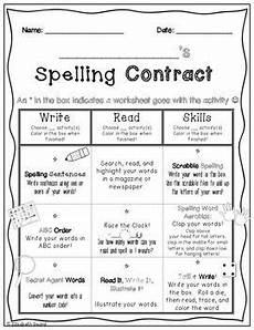 spelling practice worksheets 4th grade 22527 spelling word contract homework or class activities to practice spelling words spelling words