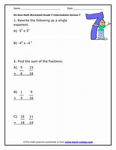 worksheets on fraction grade 7 4063 do now math grade 7 intermediate version 7