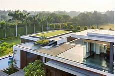 roof deck design contemporary new delhi villa with amazing courtyard and water features