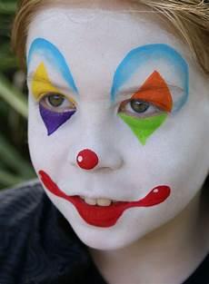 Kinderschminken Jungen Motive Clown Farbe Weiss Makeup