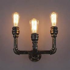 8 h bronze 3 light pipe wall sconce indoor wall lighting beautifulhalo com