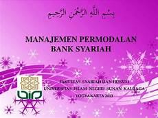 manajemen permodalan bank syariah