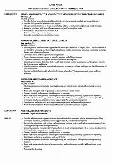 sales administrative assistant resume store administrative assistant resume sle