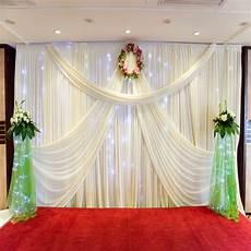 wedding decoration 1 5 10m wedding silk satin fabric