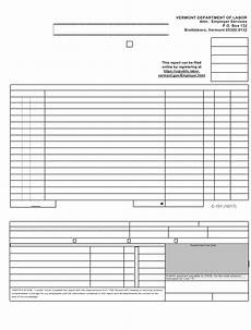 dol form c 101 download printable pdf employer s quarterly wage contribution report vermont