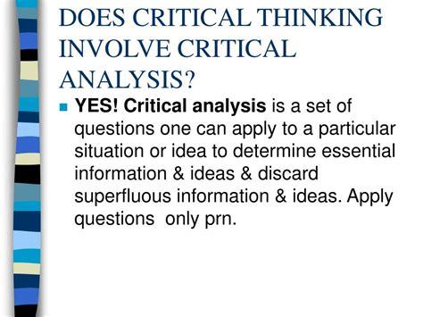 Critical Situation Analysis