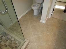 18x18 Tile In Small Bathroom