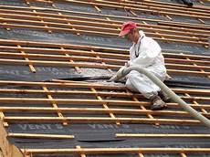 isolation du toit en ouate de cellulose ouate de