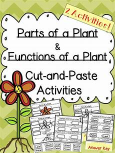 types of plants worksheets for grade 2 13744 plant parts and functions cut and paste activities cut and paste activities and student