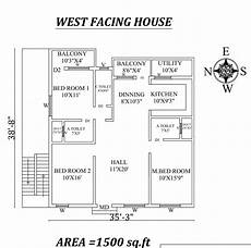 west facing house plans as per vastu 35 x38 9 quot west facing 3bhk house plan as per vastu shastra