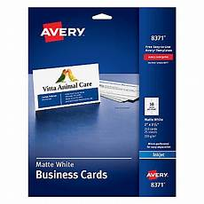 business card template pack avery inkjet microperforated business cards 2 x 3 12 matte