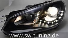 Sw Drl Scheinwerfer F 252 R Vw Golf 6 08 13 Led Tagfahrlicht
