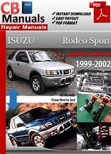 car repair manuals online free 2002 isuzu rodeo sport spare parts catalogs isuzu rodeo sport 1999 2002 service repair manual ebooks automotive
