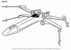 step by step how to draw x wing fighter from wars