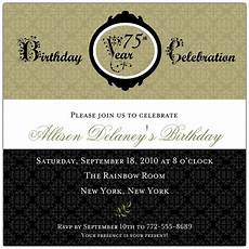 75th birthday card template damask 75th birthday invitations paperstyle