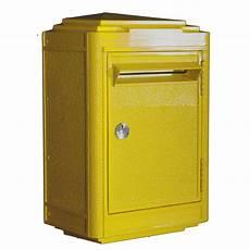 boite aux lettres jaune la poste bunker