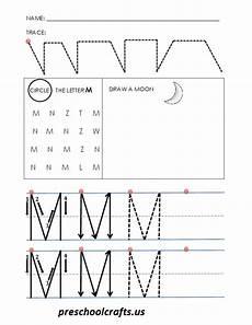 alphabet letter m worksheets preschool crafts