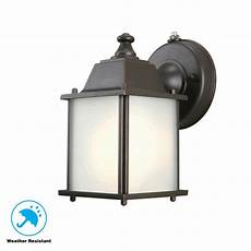 hton bay 1 light rubbed bronze outdoor dusk to dawn