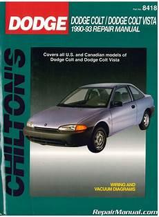 car repair manuals download 1993 plymouth colt user handbook used chilton dodge colt dodge colt vista 1990 1993 repair manual