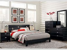 Gardenia Black 5 Pc Queen Platform Bedroom   Bedroom Sets