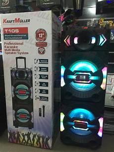 enceinte bluetooth karaoke kraftmuller enceinte bluetooth portable karaok 233 10w micro fm usb cart