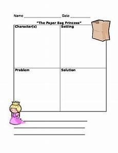 paper bag princess worksheets 15703 quot the paper bag princess quot retell by julie brunner tpt