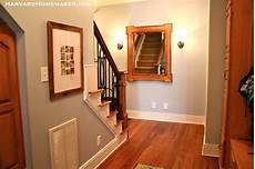 a room with no natural light painted in benjamin mt rainier gray home stairs design