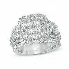 2 3 4 ct t w princess cut diamond frame three piece