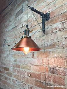industrial style sconce pendant l copper shade edison bulb wall light in 2019