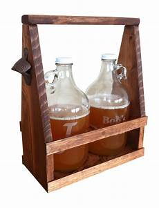 growler carrier handmade rustic by