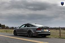 audi rs7 matte black rf2 rohana wheels